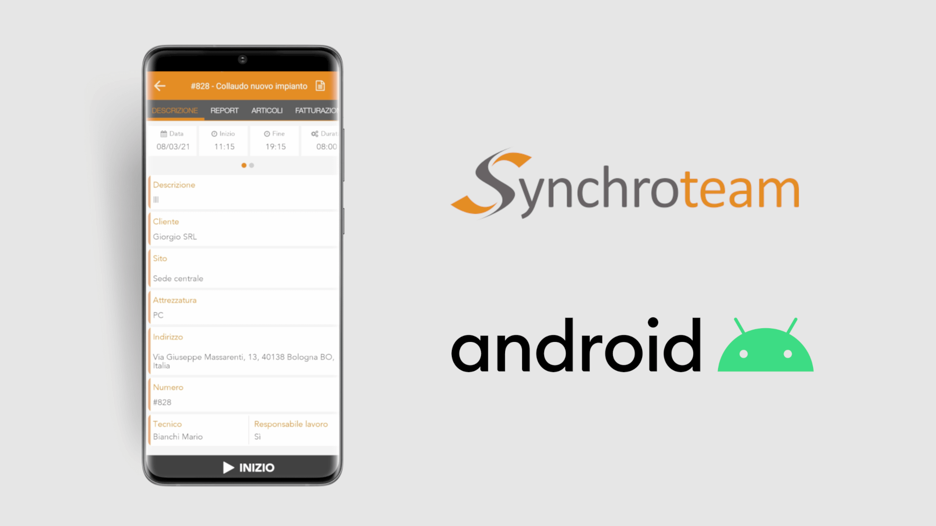 App Synchroteam su Android